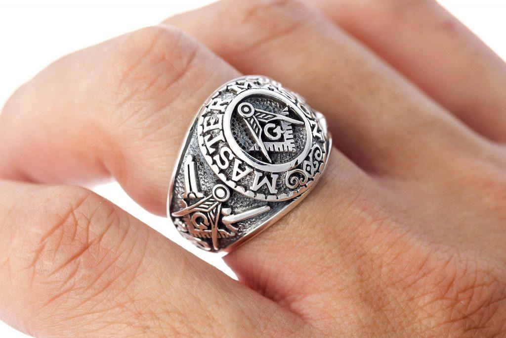 Silver masonic rings